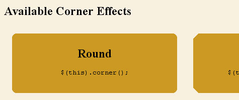 rounded corners 6 Rounded Corners with JQuery and CSS